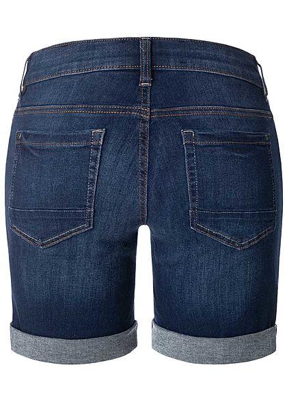 TOM TAILOR Damen Bermuda Jeans Shorts 5-Pockets dunkel blau denim