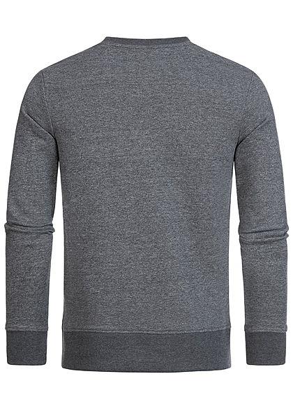 Jack and Jones Herren Sweater Logo Front Stickerei blazer navy blau