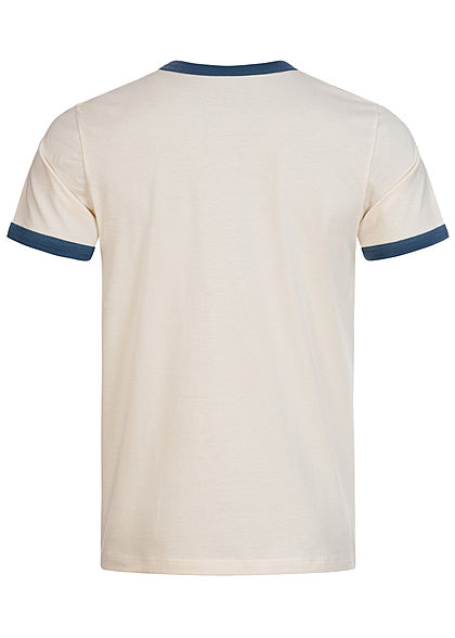 Jack and Jones Herren 2-Tone T-Shirt Logo Print ensign blau beige