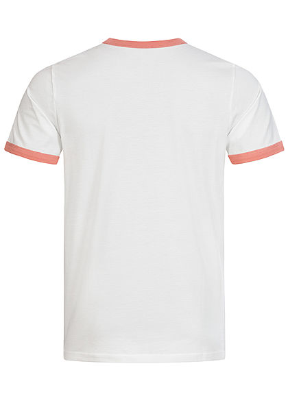 Jack and Jones Herren 2-Tone T-Shirt Logo Print rosette rosa
