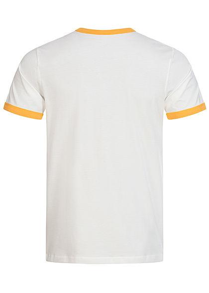 Jack and Jones Herren 2-Tone T-Shirt Logo Print yolk gelb