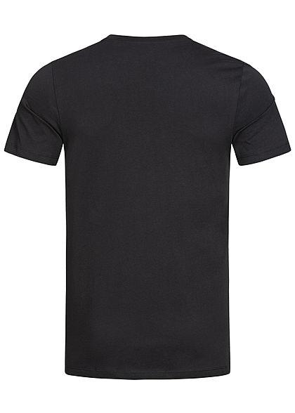 Jack and Jones Herren NOOS O-Neck T-Shirt Logo Print schwarz rot