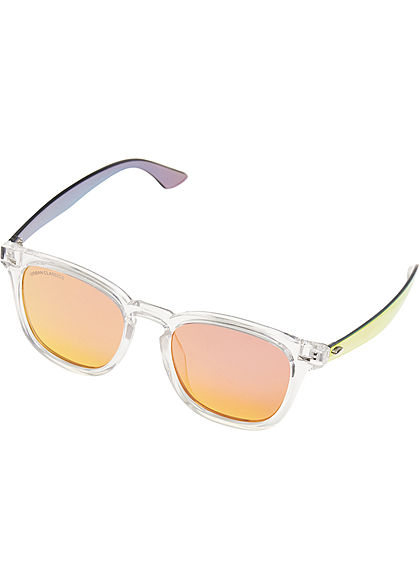 Seventyseven Lifestyle TB Transparente Sonnenbrille inkl Stoffbeutel rot