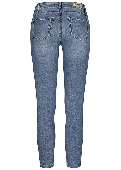 ONLY Damen Pushup Ankle Jeans Hose 5-Pockets hell blau denim