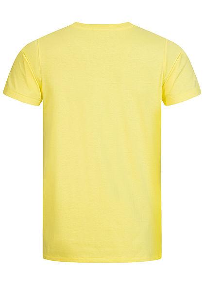 Hailys Herren T-Shirt Dunken Basketball Print gelb schwarz