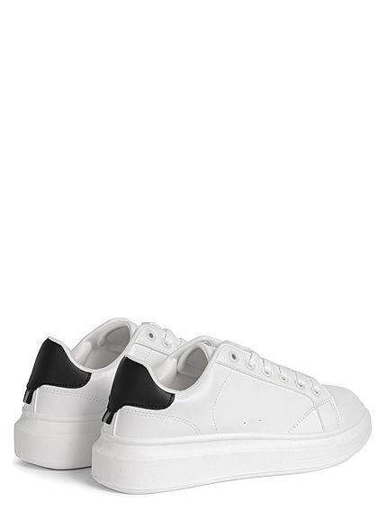 Hailys Damen Schuh Kunstleder Sneaker 2-Tone weiss schwarz