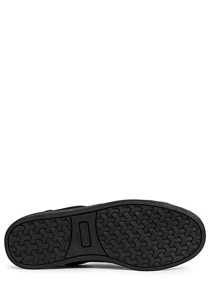 Zabaione Damen Schuh Kunstleder Sneaker Schlangenhaut-Optik schwarz