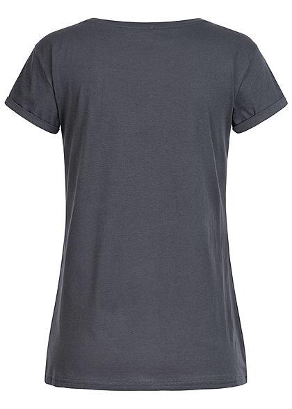 Hailys Damen T-Shirt Nala & Simba König der Löwen Print dunkel grau
