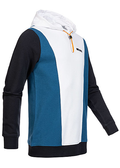 ONLY & SONS Herren Colorblock Sweat Hoodie Kapuze Regular Fit bright weiss blau