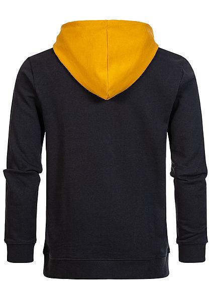ONLY & SONS Herren 2-Tone Hoodie Pullover Kapuze Regular Fit golden gelb schwarz