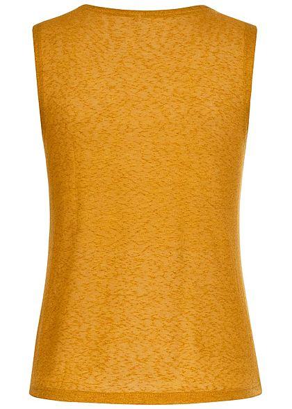 ONLY Damen V-Neck Viskose Top mit Lurexstreifen chai tea gelb gold