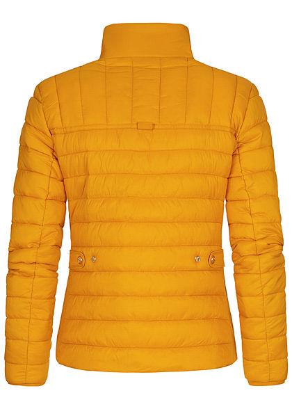 Zabaione Damen Steppjacke mit Stehkragen 2-Pockets mustard gelb