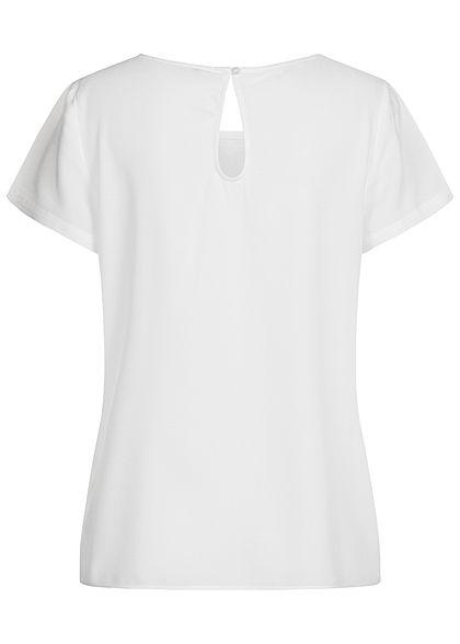 ONLY Damen NOOS Solid Blusen Shirt cloud dancer weiss