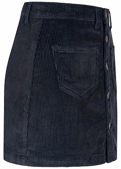 ONLY Damen NOOS Cord Rock 2-Pockets Knopfleiste night sky navy blau