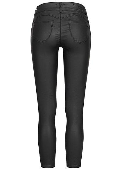 Hailys Damen High-Waist Pushup Skinny Hose 2-Pockets schwarz