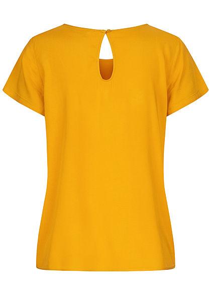 ONLY Damen NOOS Solid Blusen Shirt golden gelb