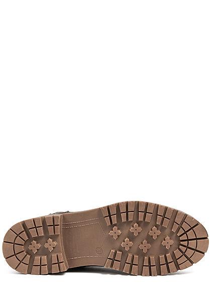 Tom Tailor Damen Schuh Boots Stiefelette Kunstleder coal dunkel grau
