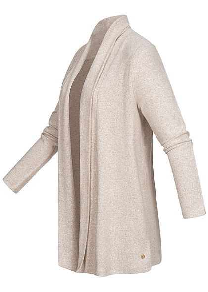 TOM TAILOR Damen Cardigan cozy beige melange