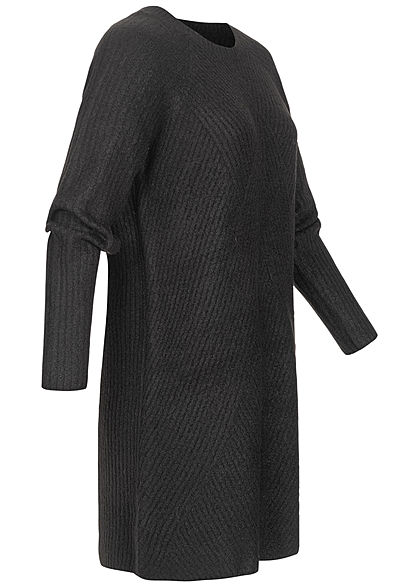 ONLY Damen Mini Strickkleid schwarz