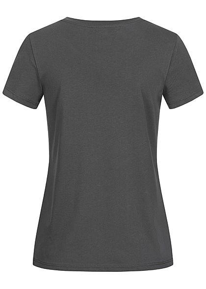 ONLY Damen T-Shirt Dumbo Elefant Print dunkel grau