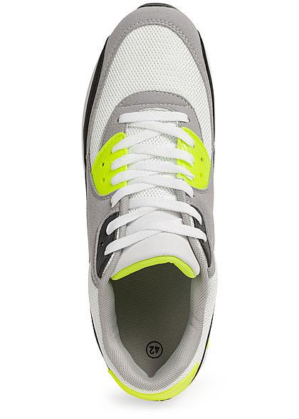 Seventyseven Lifestyle Herren Schuh Sneaker zum Schnüren neon grün grau schwarz
