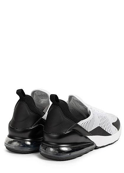 Seventyseven Lifestyle Herren Schuh Colorblock Sneaker zum Schnüren weiss schwarz grau