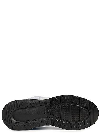 Seventyseven Lifestyle Herren Schuh Colorblock Sneaker zum Schnüren weiss blau