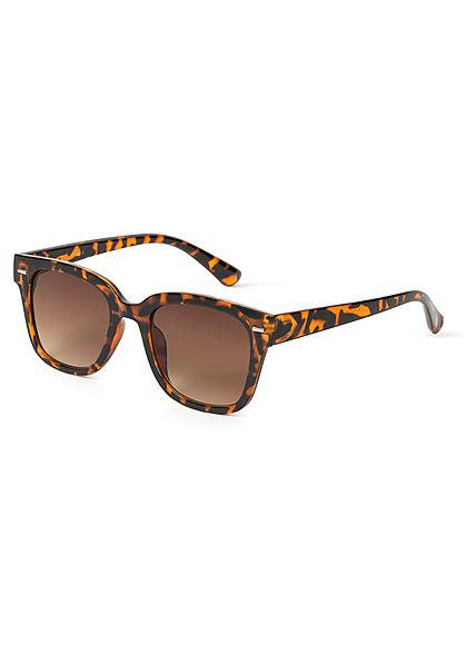 Hailys Damen Sonnenbrille UV-400 Cat.3 Leo Print braun
