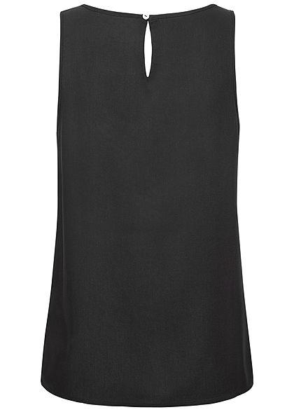 ONLY Damen Solid Viskose Blusen Top schwarz