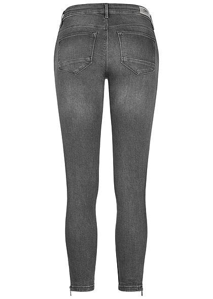 ONLY Damen NOOS Ankle Jeans Hose 5-Pockets Zipper medium grau denim
