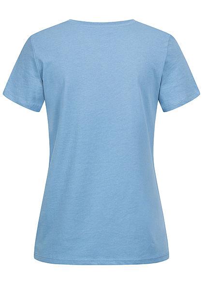 Tom Tailor Damen T-Shirt Multicolor Streifen Print vorn sommer blau
