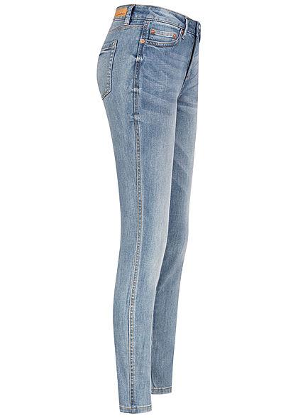Tom Tailor Damen Extra Skinny Ankle Jeans Hose 5-Pockets Regular Waist hell blau denim