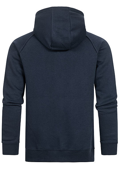 Eight2Nine Herren 2-Tone Half-Zip Hoodie Kapuze Logo by Sky Rebel deep blau rot