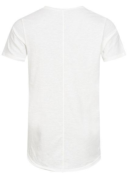 Eight2Nine Herren T-Shirt offene Nähte by Sky Rebel smoky weiss