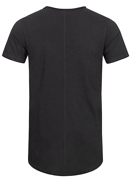 Eight2Nine Herren T-Shirt offene Nähte by Sky Rebel schwarz