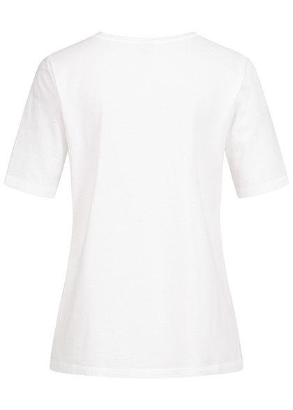 ONLY Damen T-Shirt Face Print get it done bright weiss pink