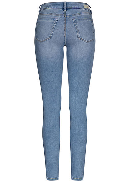 Tom Tailor Damen Extra Skinny Jeans Hose 5-Pockets Regular Waist used stone hell blau