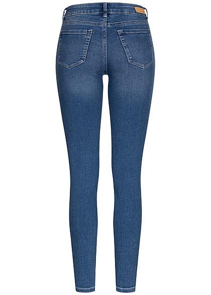 Tom Tailor Damen Extra Skinny Jeans Hose 5-Pockets Regular Waist used stone medium blau