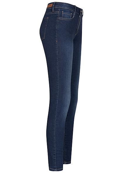 Tom Tailor Damen Extra Skinny Jeans Hose 5-Pockets Regular Waist used stone dunkel blau