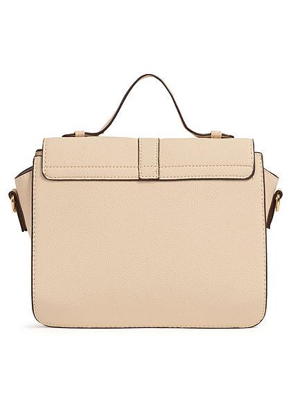 Hailys Damen Midi Kunstleder Handtasche B28xH23 3-Pockets beige