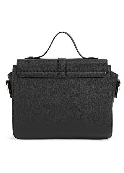 Hailys Damen Midi Kunstleder Handtasche B28xH23 3-Pockets schwarz