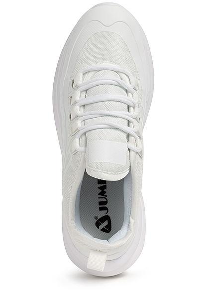 Seventyseven Lifestyle Damen Schuh Kunstleder Sneaker Materialmix weiss
