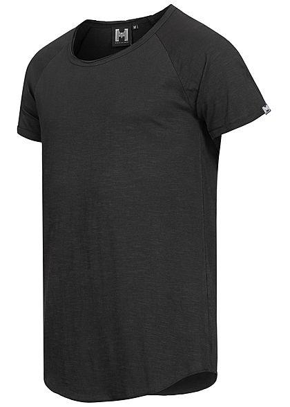 Hailys Herren Basic T-Shirt Unicolor schwarz