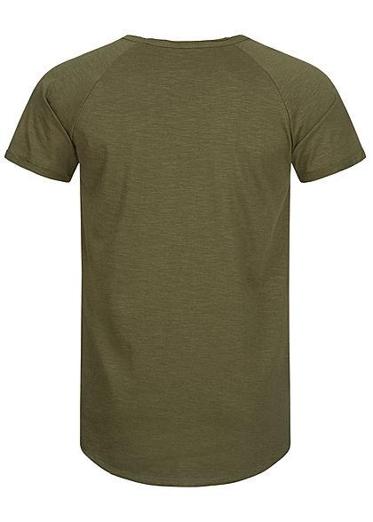 Hailys Herren Basic T-Shirt Unicolor khaki grün