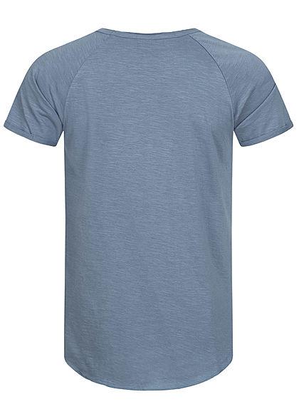 Hailys Herren Basic T-Shirt Unicolor blau