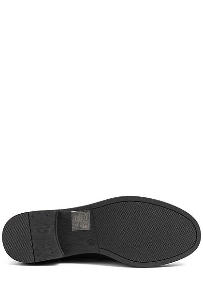 ONLY Damen Schuh Kunstleder Elastik Boots Halbstiefel in Schlangenhautoptik schwarz