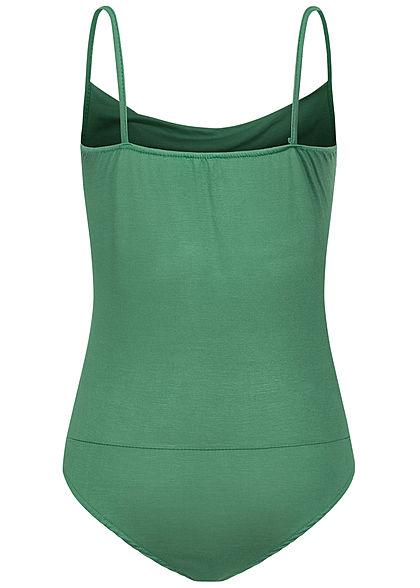 Styleboom Fashion Damen Träger Body Wasserfall Optik grün