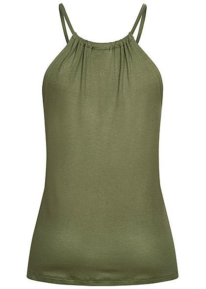 Seventyseven Lifestyle Damen leichtes Viskose Top oliv grün