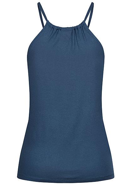 Seventyseven Lifestyle Damen leichtes Viskose Top navy blau