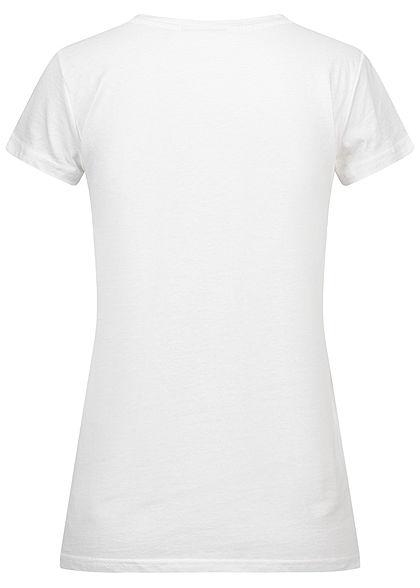 Eight2Nine Damen T-Shirt Support Print weiss